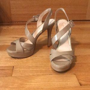 Jessica Simpson Beige Platformed Heels